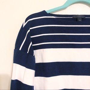 J.Crew Stripe Blocked Boatneck T Shirt